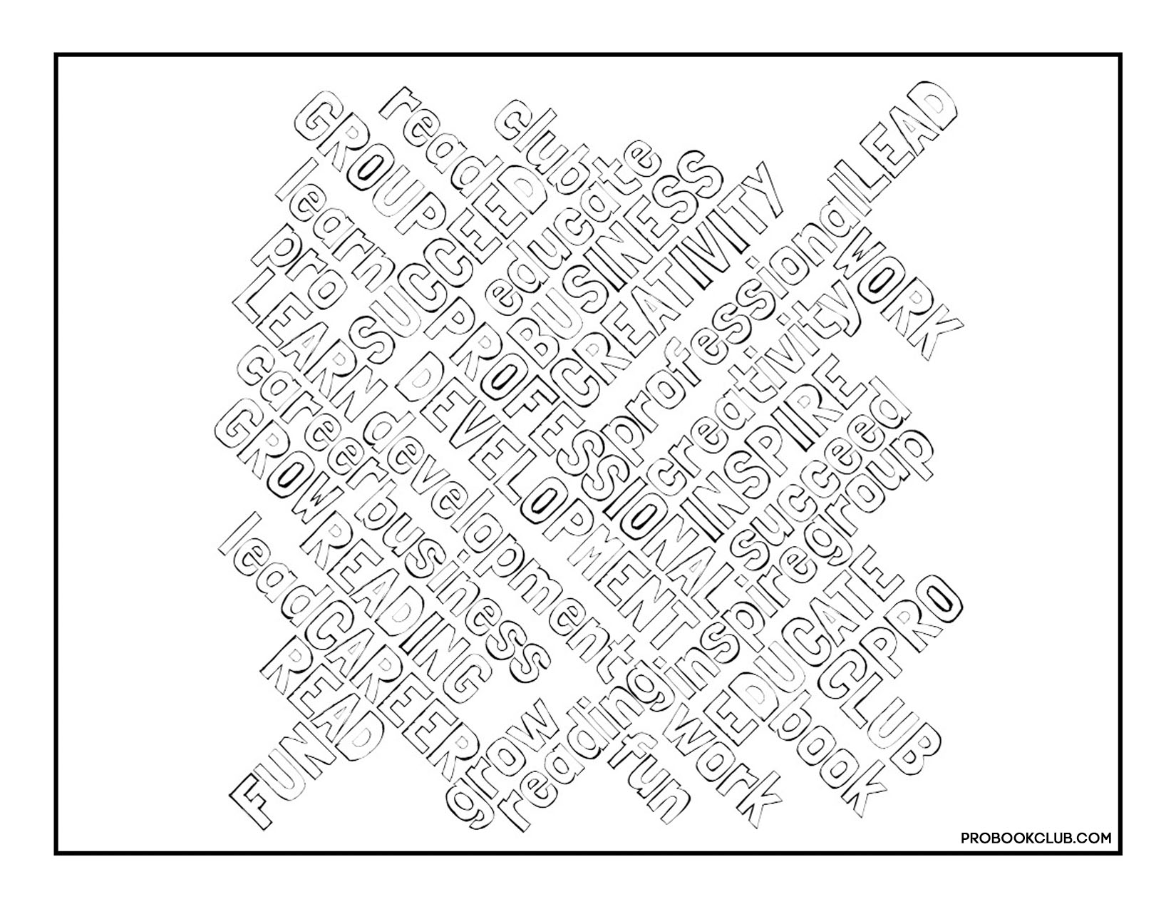 Word Cloud Coloring Page